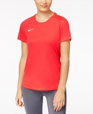 Nike Dry Academy Soccer Top In Siren Red/White