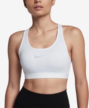 Nike Pro Classic Medium-Support Compression Sports Bra In White