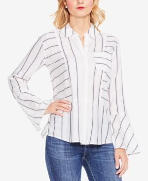 Vince Camuto Two By  Cotton Striped Shirt In New Ivory