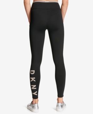 Dkny Sport Logo Active Leggings In Cool Burst
