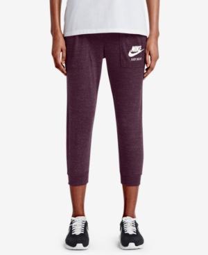 Nike Gym Vintage Capri Pants In Port Wine/Sail