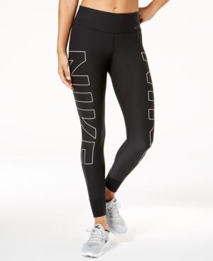 Nike Power Legend Compression Logo Leggings In Black/White/Cool Gray