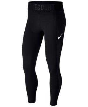 Nike Court Power Tennis Leggings In Black/White