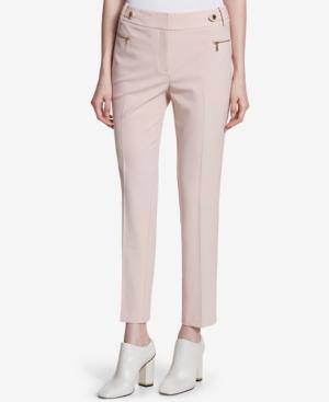 Calvin Klein Embellished Straight-Leg Pants In Blush