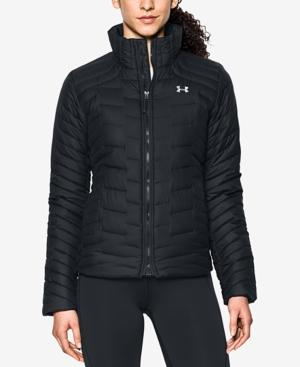 Under Armour Ua Coldgear Hooded Jacket In Black