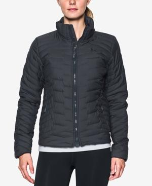 Under Armour Coldgear Reactor Jacket In Carbon Heather