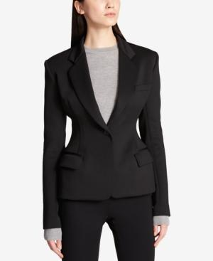 Dkny Exaggerated-Fit Blazer In Black