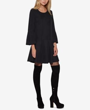 Avec Les Filles Drop-Waist Dress In Black