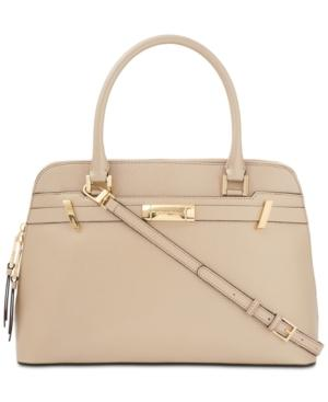 Calvin Klein Brooke Large Dome Satchel In Pale Gold