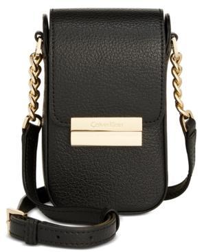 Calvin Klein Brooke Mini Crossbody In Black Gold