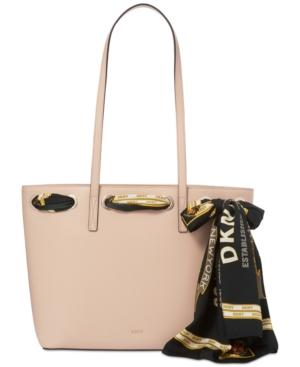Dkny Large Tote With Scarf, Created For Macy's In Quartz