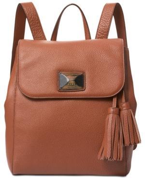 Dkny Alix Medium Flap Backpack, Created For Macy's In Walnut