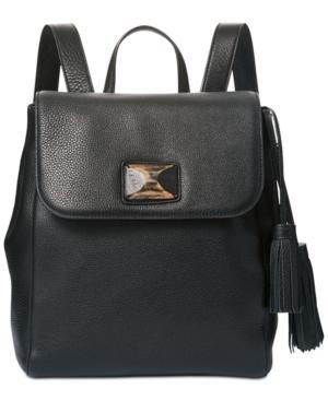 Dkny Alix Medium Flap Backpack, Created For Macy's In Black