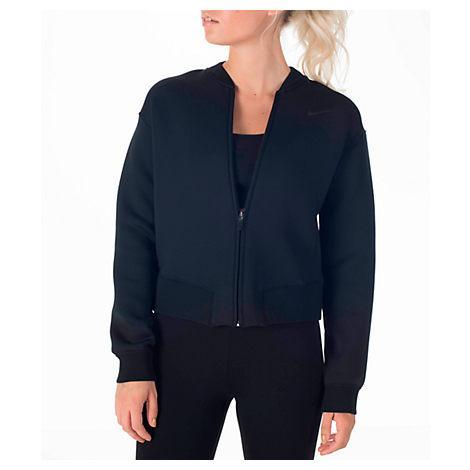 Nike Women's Therma Sphere Training Jacket, Black