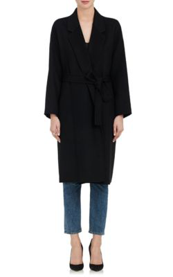 Robert Rodriguez Wool-Cashmere Melton Oversized Coat In Black