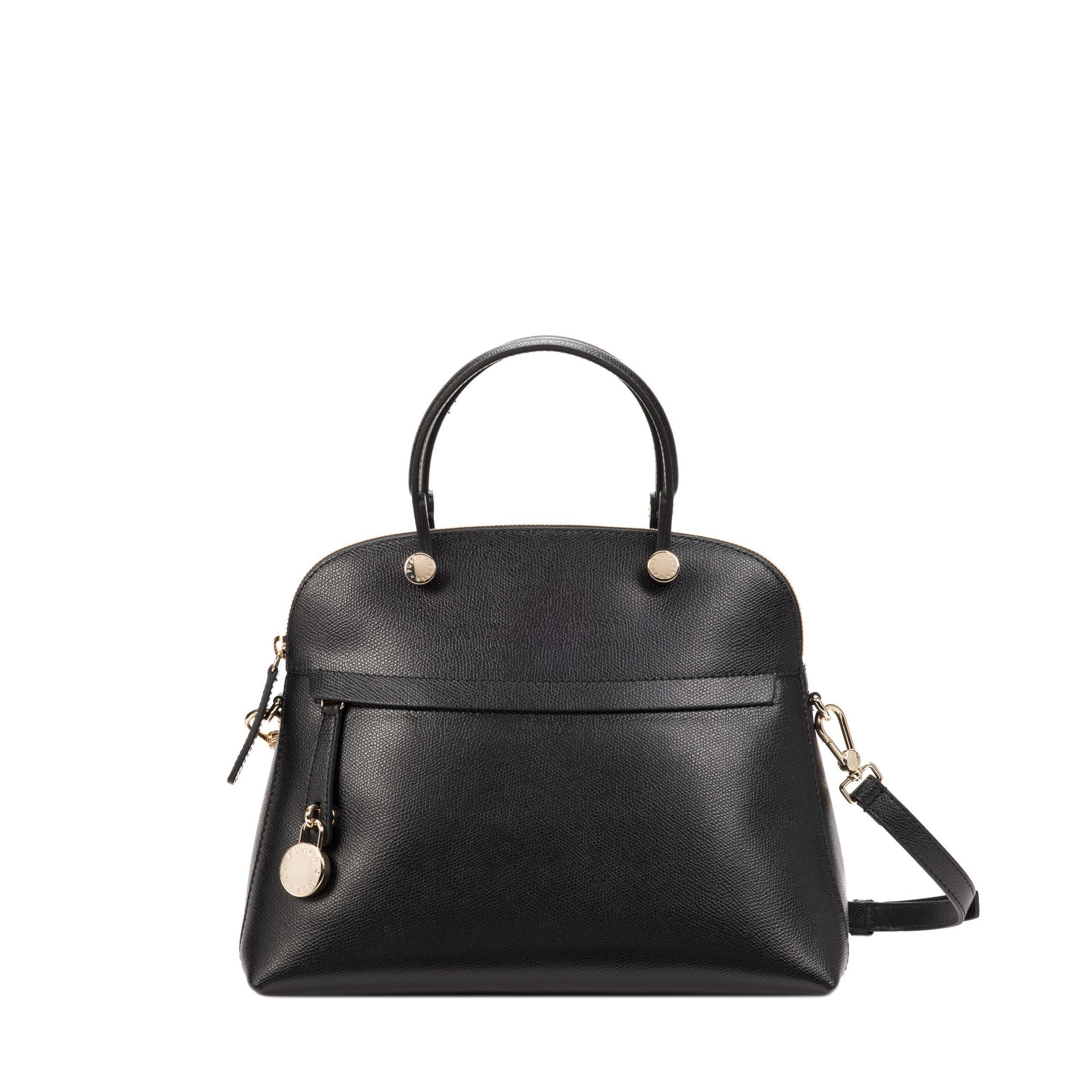 Furla Piper Leather Bag In Black