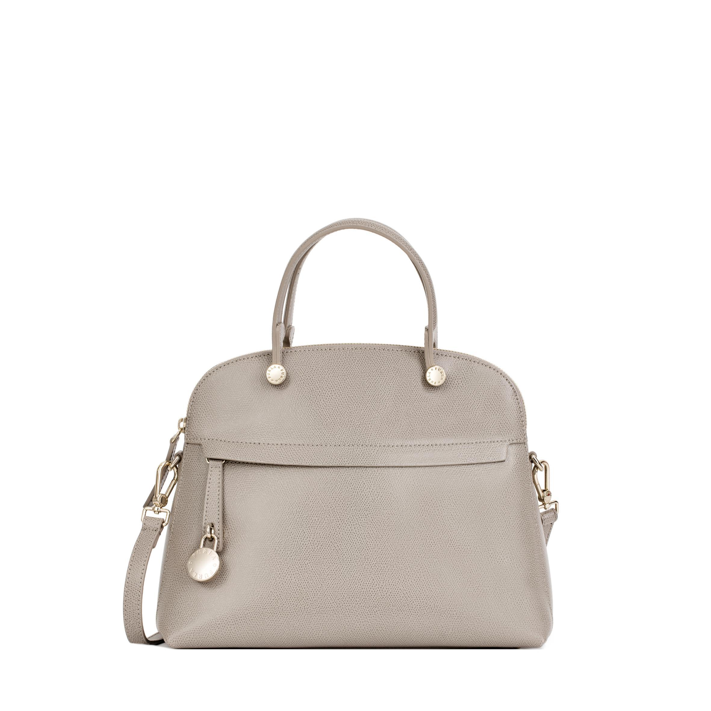 Furla Piper Leather Bag In Sand