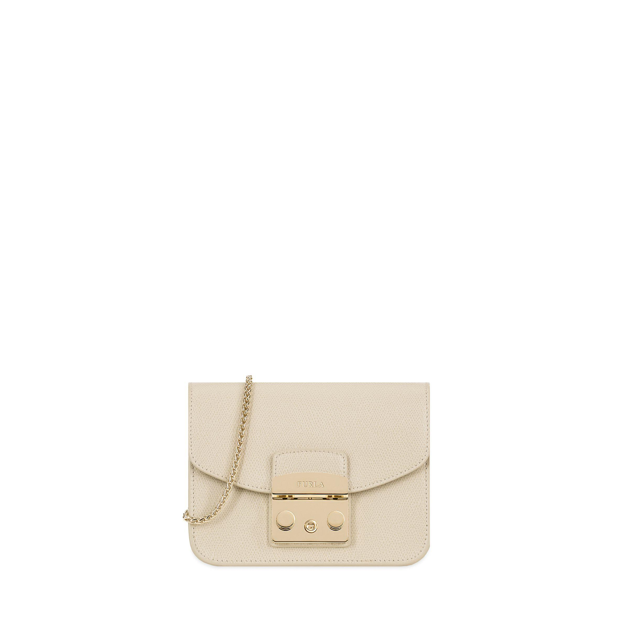 Furla Metropolis Leather Mini Bag In Creta