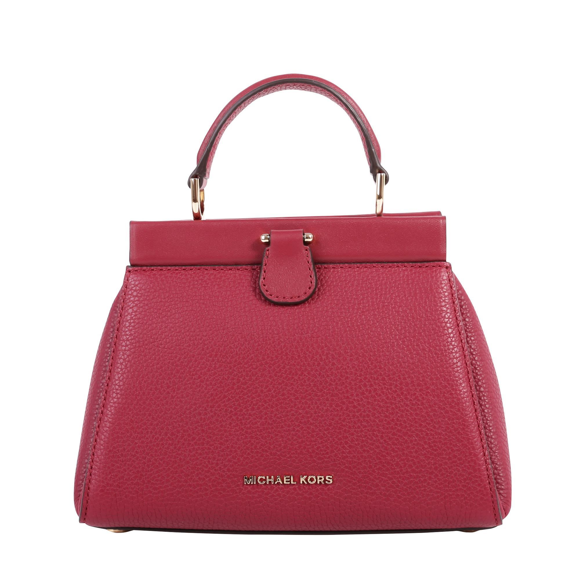 Michael Michael Kors Gramercy Grained Leather Bag In Oxblood