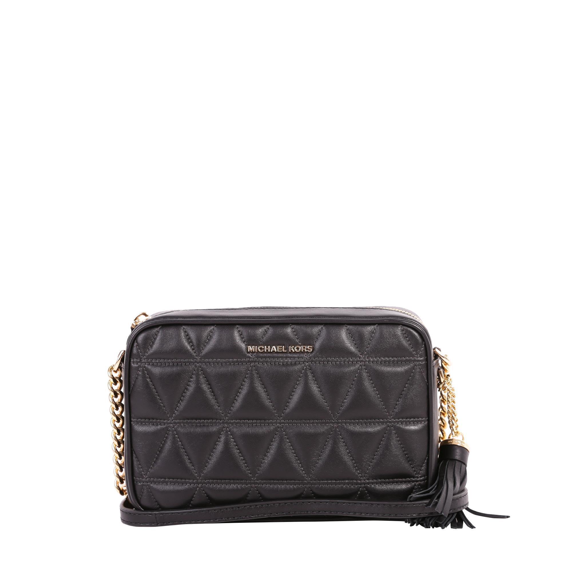 Michael Michael Kors Ginny Leather Bag In Black