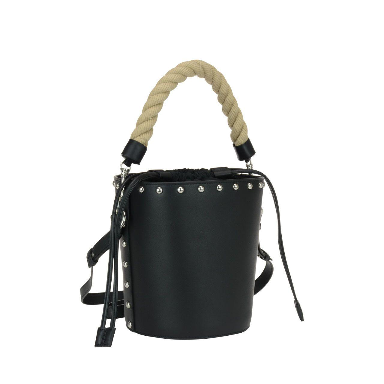J.W.Anderson J.W. Anderson Studded Bucket Bag In Black