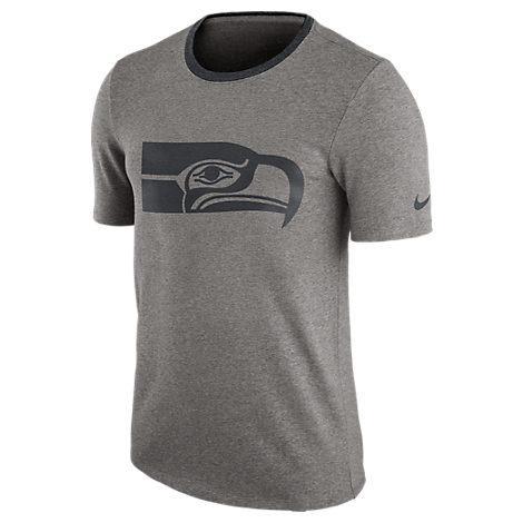 Nike Men's Seattle Seahawks Nfl Modern Ringer T-Shirt, Grey