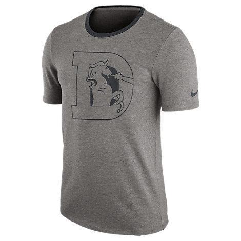 Nike Men's Denver Broncos Nfl Modern Ringer T-Shirt, Grey