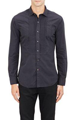 Ralph Lauren Bibbed Poplin Shirt In Black