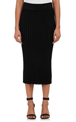 Altuzarra Diamon Rib-Knit Tech-Jersey Pencil Skirt In Black