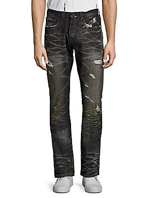 Prps Agreement Demon Distressed Jeans In Black