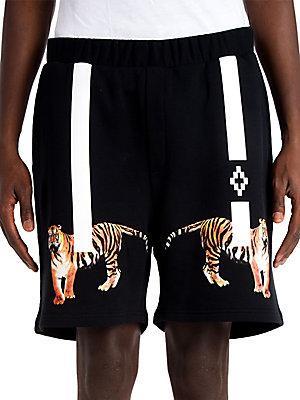 Marcelo Burlon County Of Milan X Tyga Tiger Shorts In Black