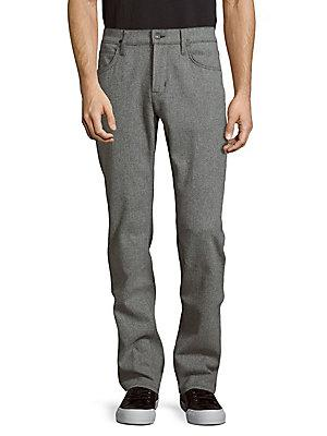 Hudson Slim-Fit Textured Pants In Predator