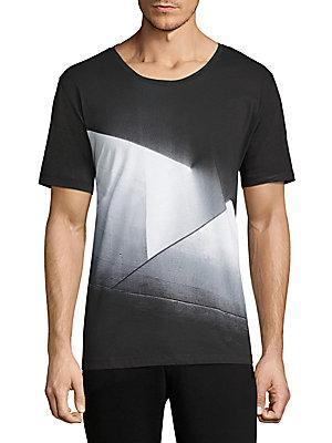 Hugo Boss K-Dicino Abstract Printed T-Shirt In Black-White