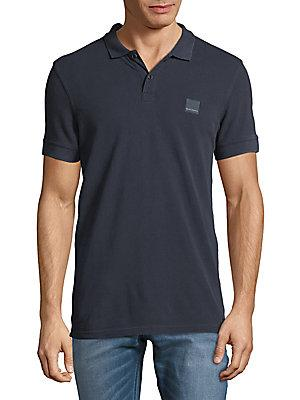 Hugo Boss Pascha Slim-Fit Cotton Polo In Navy