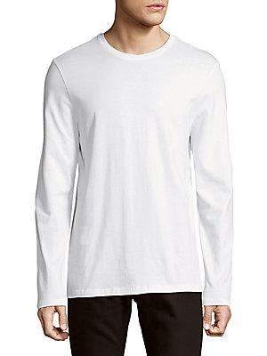 Vince Clean Jersey Cotton Long-Sleeve Tee In Optic White