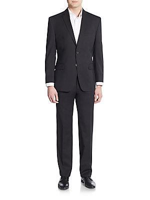 Vince Camuto Slim-Fit Solid Wool Suit In Black