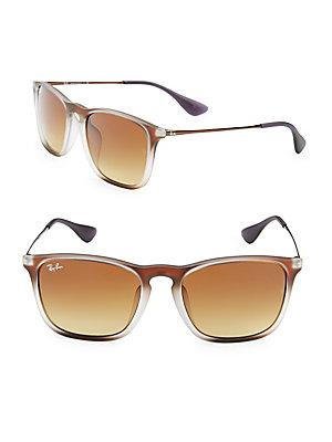 Ray Ban Square Wayfarer Sunglasses In Brown