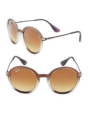 Ray Ban Round Sunglasses In Brown