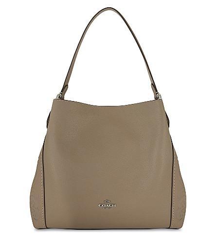 Coach Edie 31 Tearose Leather Shoulder Bag In Stone