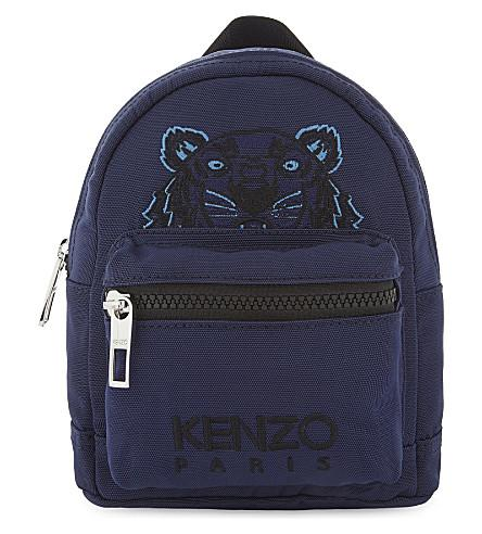 Kenzo Embroidered Tiger Mini Backpack In Navy