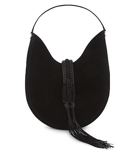 Altuzarra Ghianda Suede Shoulder Bag In Black