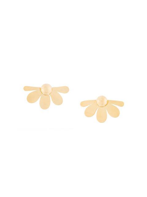 Simone Rocha Flower Stud Earrings