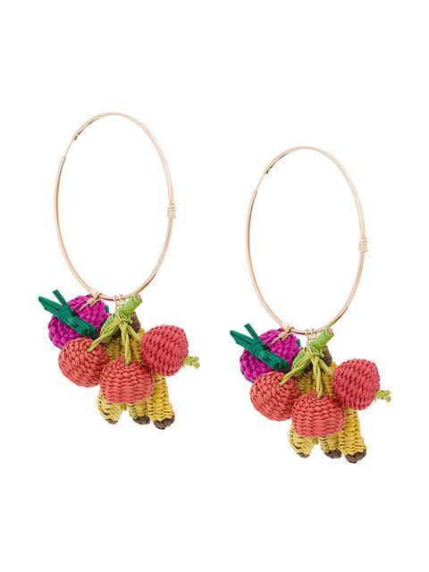 Mercedes Salazar Tutti Frutti Hoop Earrings