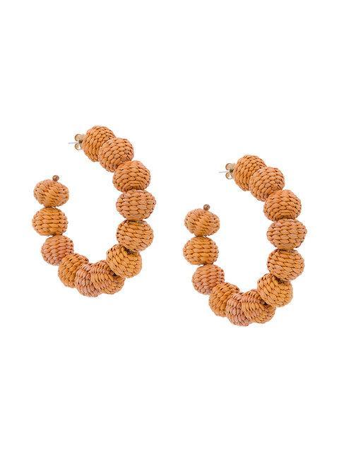 Mercedes Salazar Woven Crescent Earrings
