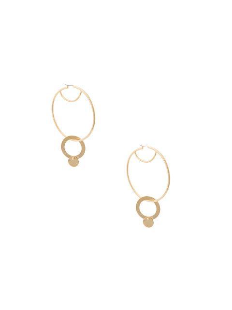 Eddie Borgo Gold Nubia Hoop Earrings In Metallic