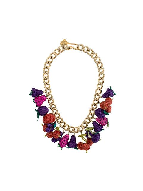 Mercedes Salazar Woven Fruit Necklace - Multicolour