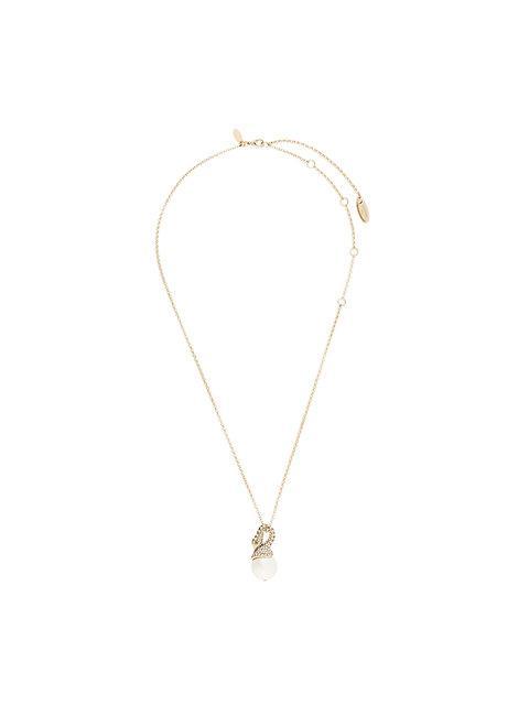 Lanvin Short Embellished Swan Necklace