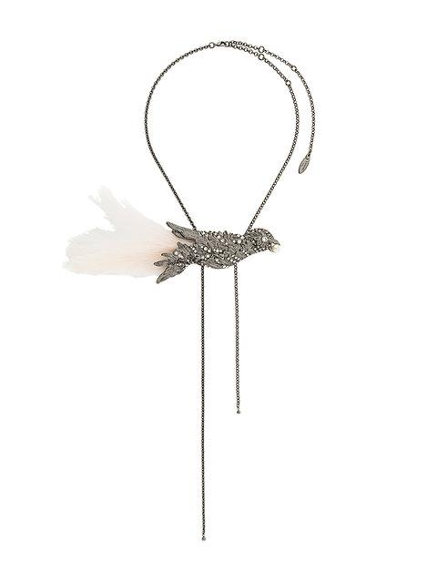 Lanvin Embellished Bird Necklace