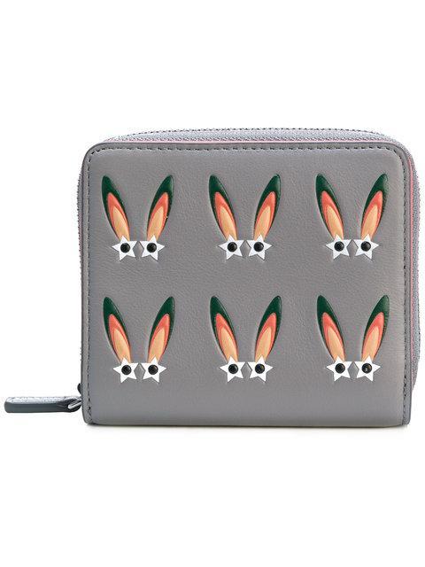 Mcm Star Eyed Bunny Zip Wallet