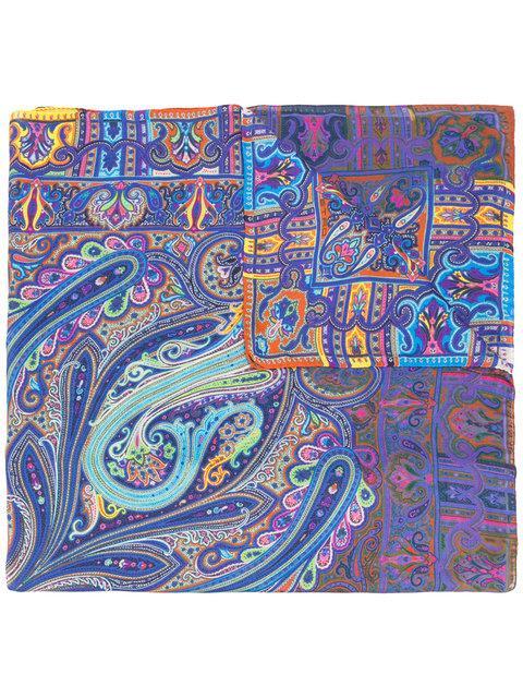 Etro Paisley Mixed Print Scarf